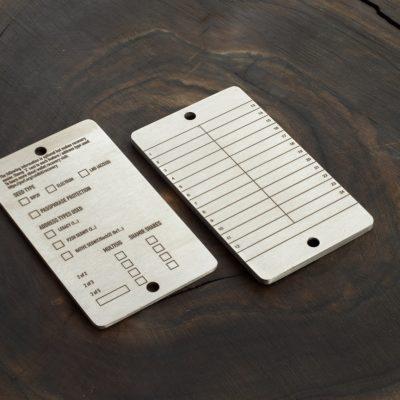 Coldbit Steel - Info plate