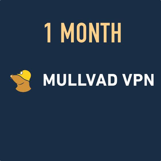 Mullvad VPN - 1 month voucher